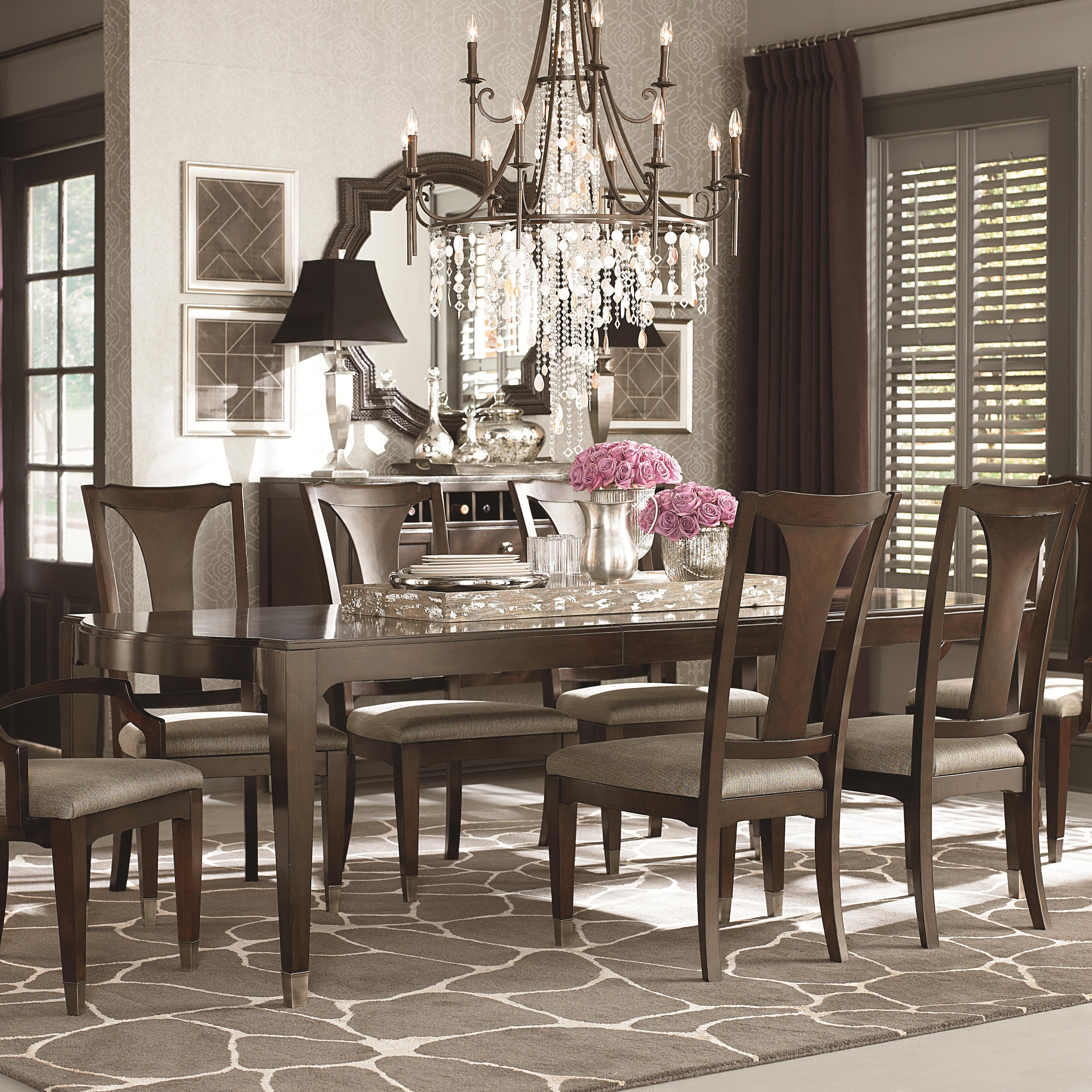 Bassett Cosmopolitan Transitional Nine Piece Dining Set With Rectangular  Tables   AHFA   Dining 7 (or More) Piece Set Dealer Locator