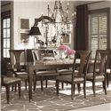 Bassett Cosmopolitan 9 Piece Dining Set - Item Number: 4767-4278+6x 4767-2451+2x4767-1450