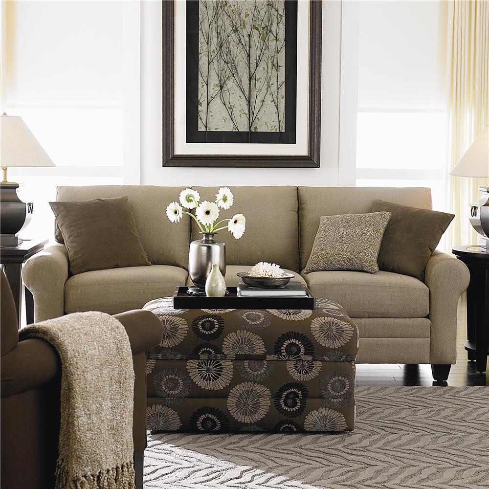 Bassett CU.2 3850-72U Upholstered Stationary Sofa