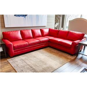 Lipstick Red Leather Sectional