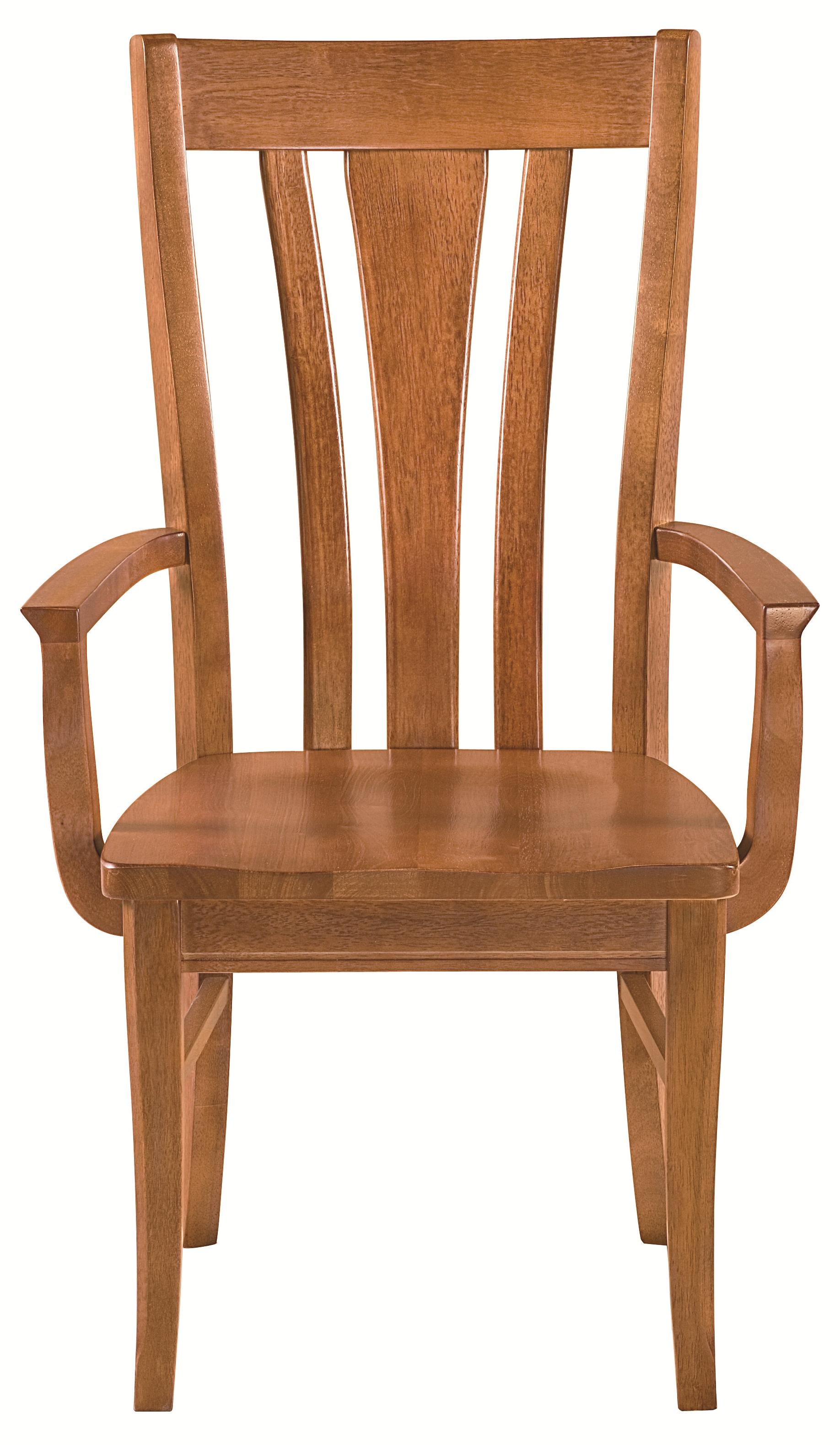 Bassett Custom Dining Arm Chair with Transitional Back ...