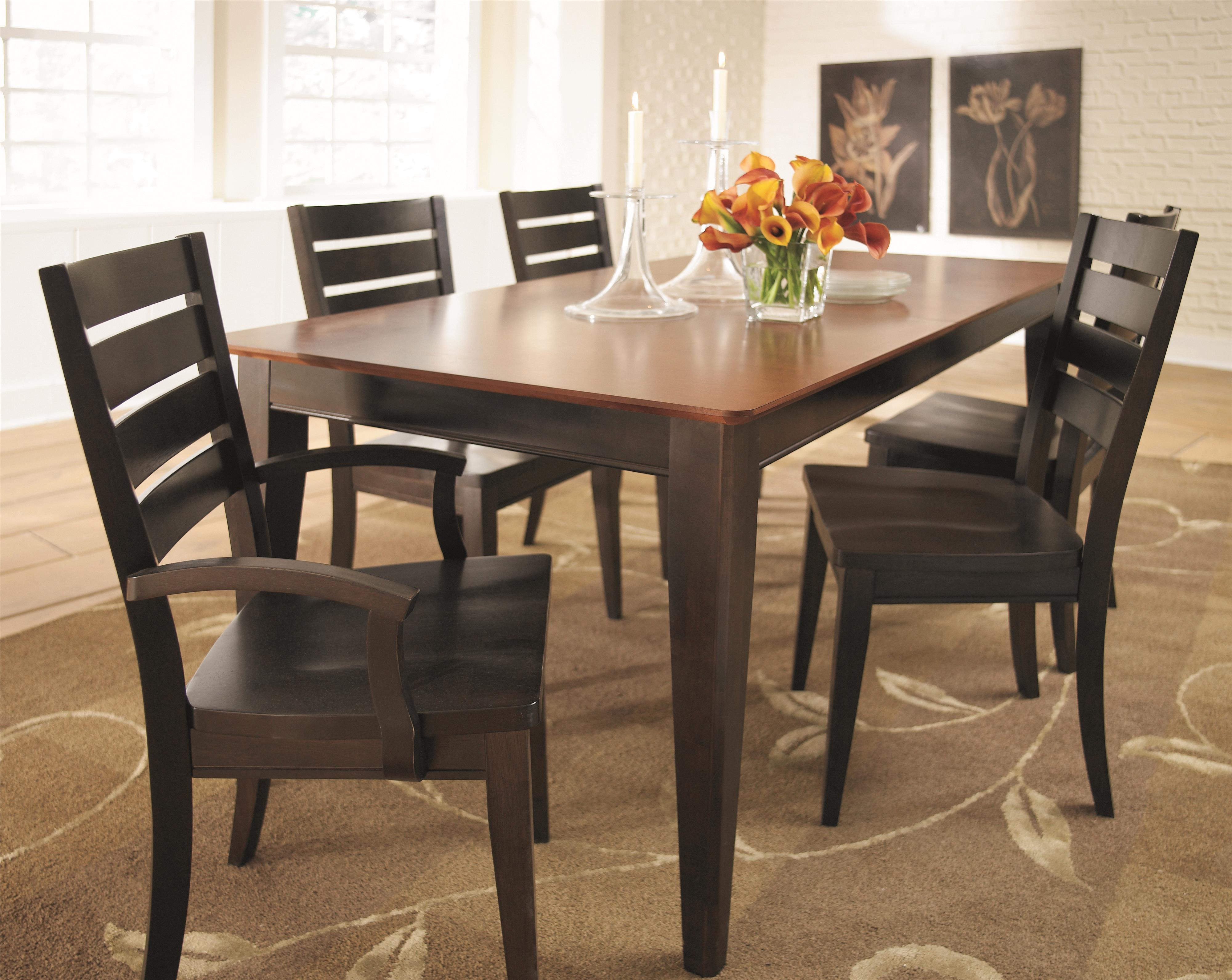 Bassett custom dining 4469 4469 3660 customizable rectangle kitchen table hudson 39 s furniture - Custom kitchen table ...