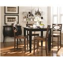 Bassett Custom Dining 4469 <b>Customizable</b> Square Dining Table - Shown with Customized Legs and Finish Tones