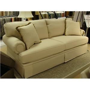 Bassett Custom Sofas Custom Sofa with Rolled Arms