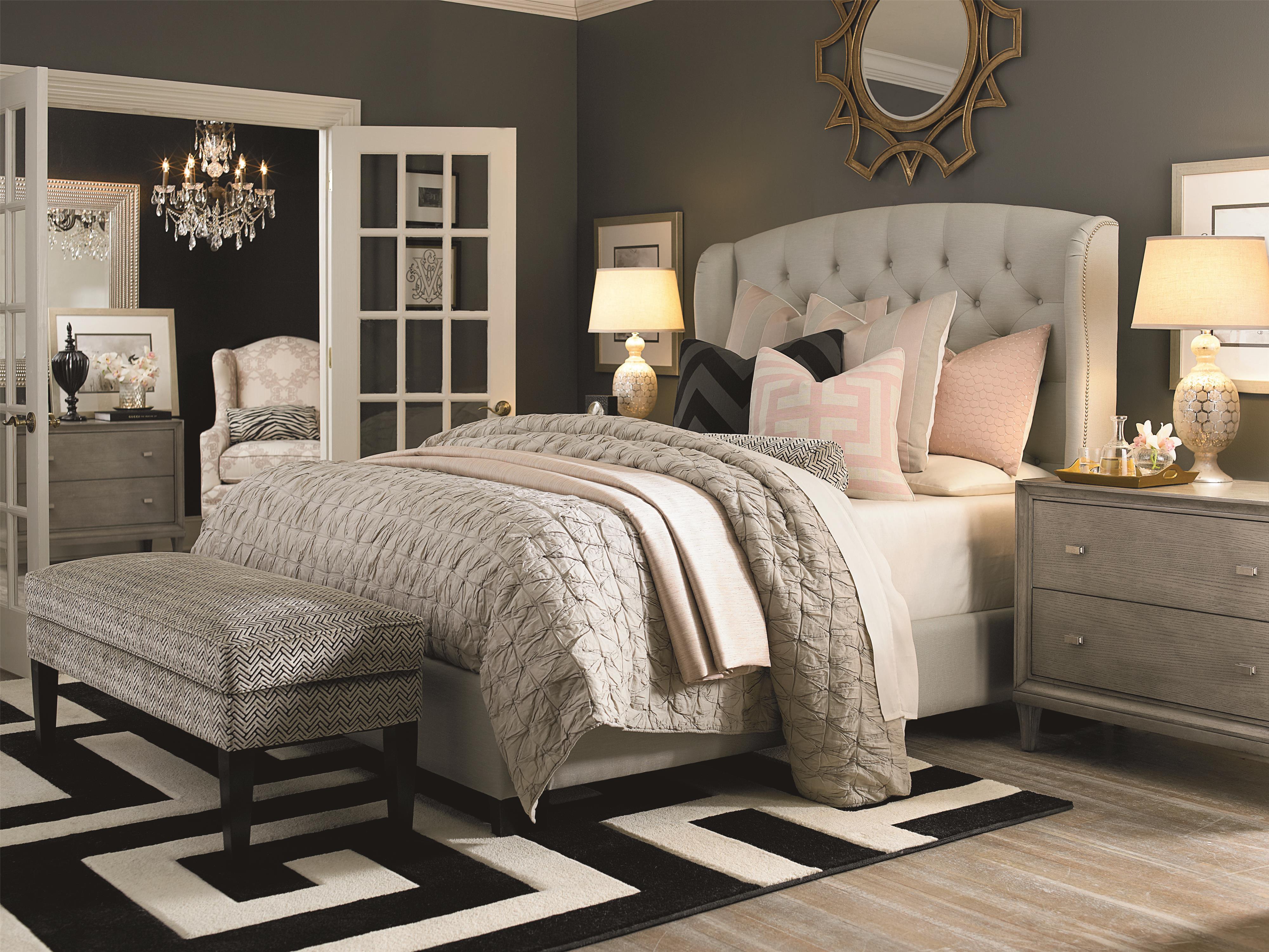 Bassett Custom Upholstered Beds Paris King Size