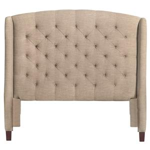 Bassett Custom Upholstered Beds Paris Upholstered King Size Headboard