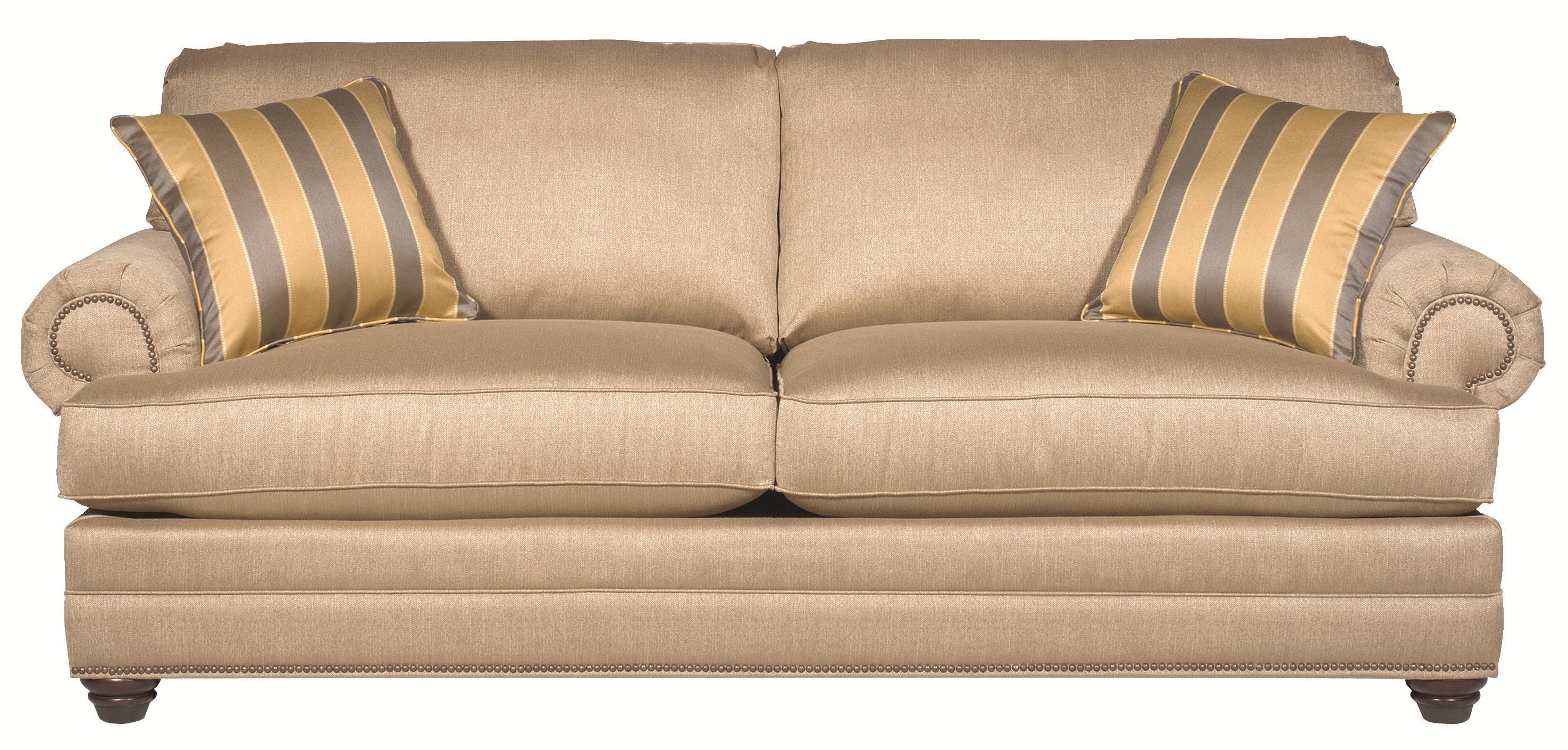 Bassett Custom Upholstery - Estate <b>Custom</b> Sofa - Item Number: 6000-62T