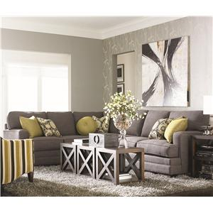 Bassett Custom Upholstery - Estate <b>Custom</b> 2 pc. Sleeper Sectional
