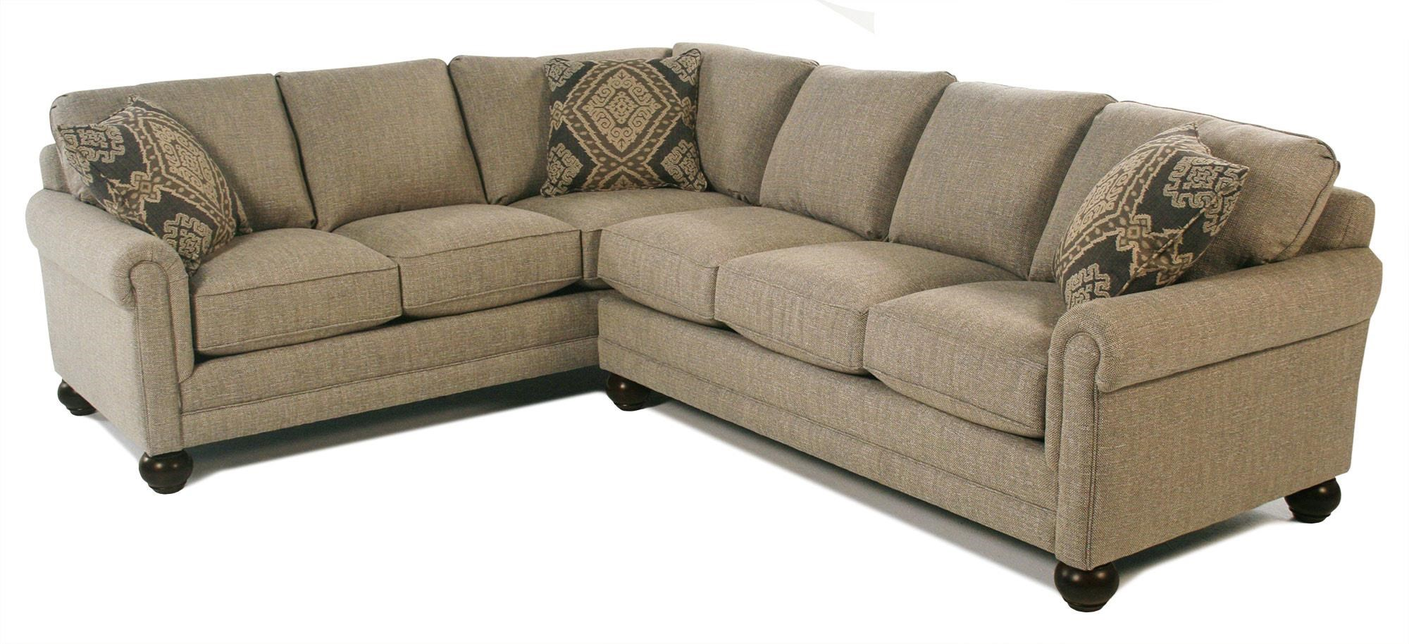 Bassett Custom Upholstery - Loft 2 Piece Sectional - Item Number: 8000-66F+61F-1449-19FOG