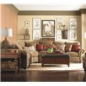 Bassett Custom Upholstery - Manor <b>Custom</b> 3 pc. Sectional - Item Number: 5000-63F+38F+61F