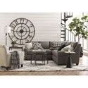 Bassett Ellery 4 Seat Sectional - Item Number: 3101-66+41-Gray Fabric