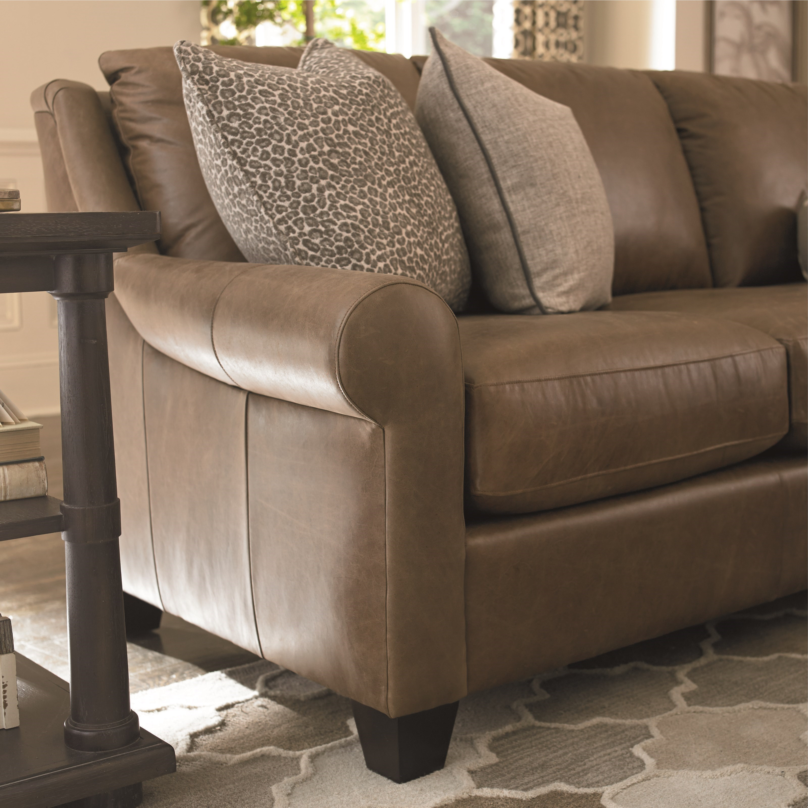 Bassett Ellery Transitional 5 Seat Sectional with Sock ...
