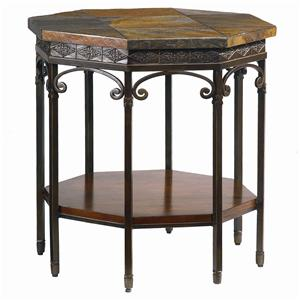 Bassett Elway Home Stone/Metal Oct. End Table