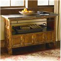 Bassett Elway Home Wooden Console Table with Slate Tabletop