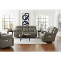 Bassett Evo Reclining Living Room Group - Item Number: 3706 Living Room Group 1-Pewter