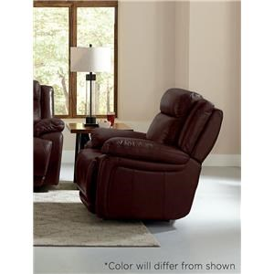 Bassett Evo Brown Leatehr Recliner with Power Head and F