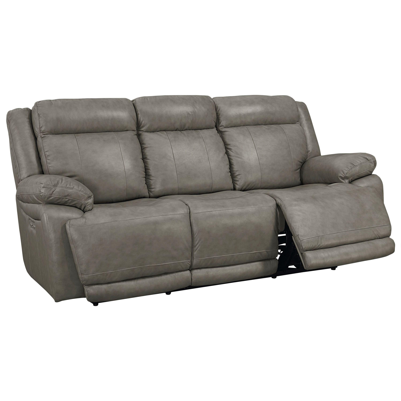 Bassett Evo Power Reclining Sofa With Power Headrests