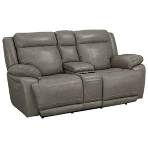 Bassett Evo Power Reclining Console Love Seat