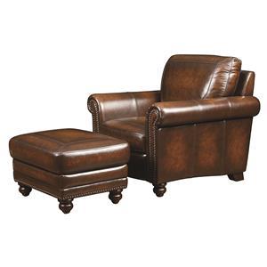 Bassett Hamilton Chair and Ottoman Set