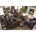 Bassett Hamilton 3958 Traditional 4 Seat Power Reclining Sectional - Recliner Shown May Not Represent Exact Features Indicated