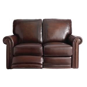 Bassett Hamilton 3958 Leather Reclining Loveseat