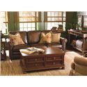 Bassett Hamilton Traditional Sofa with Nail Head Trim