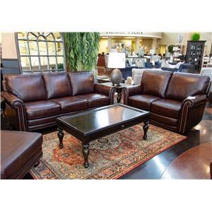 Bassett Hamilton Leather Sofa and Loveseat