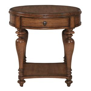 Bassett Heartland Pine Round Lamp Table