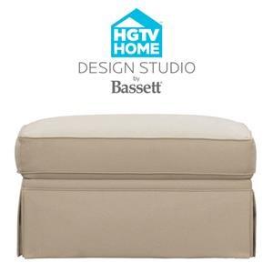 Bassett HGTV Home Design Studio Customizable Ottoman