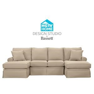 Customizable C-Shaped Double Chaise Sectiona