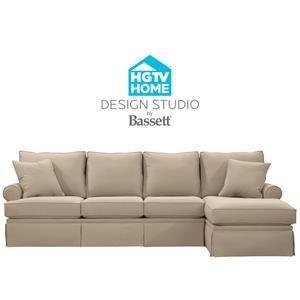 Delightful Bassett HGTV Home Design Studio Customizable C Shaped Single Chaise Sectiona