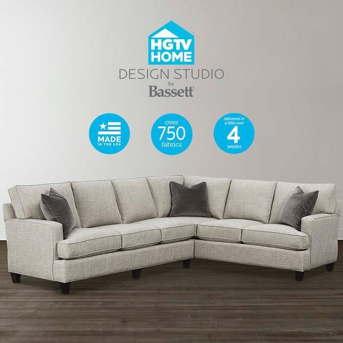 Bassett Design: Bassett HGTV Home Design Studio 4000-SECTT2 Customizable L
