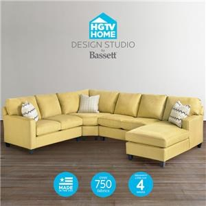 Customizable U-Shaped Sectional with Chaise