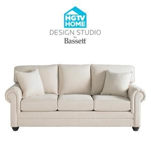 Bassett HGTV Home Design Studio Customizable Queen Sofa Sleeper