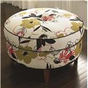 "Bassett HGTV HOME Design Studio Custom Ottomans 24"" Round Ottoman - Item Number: 1000-RO CtTl"