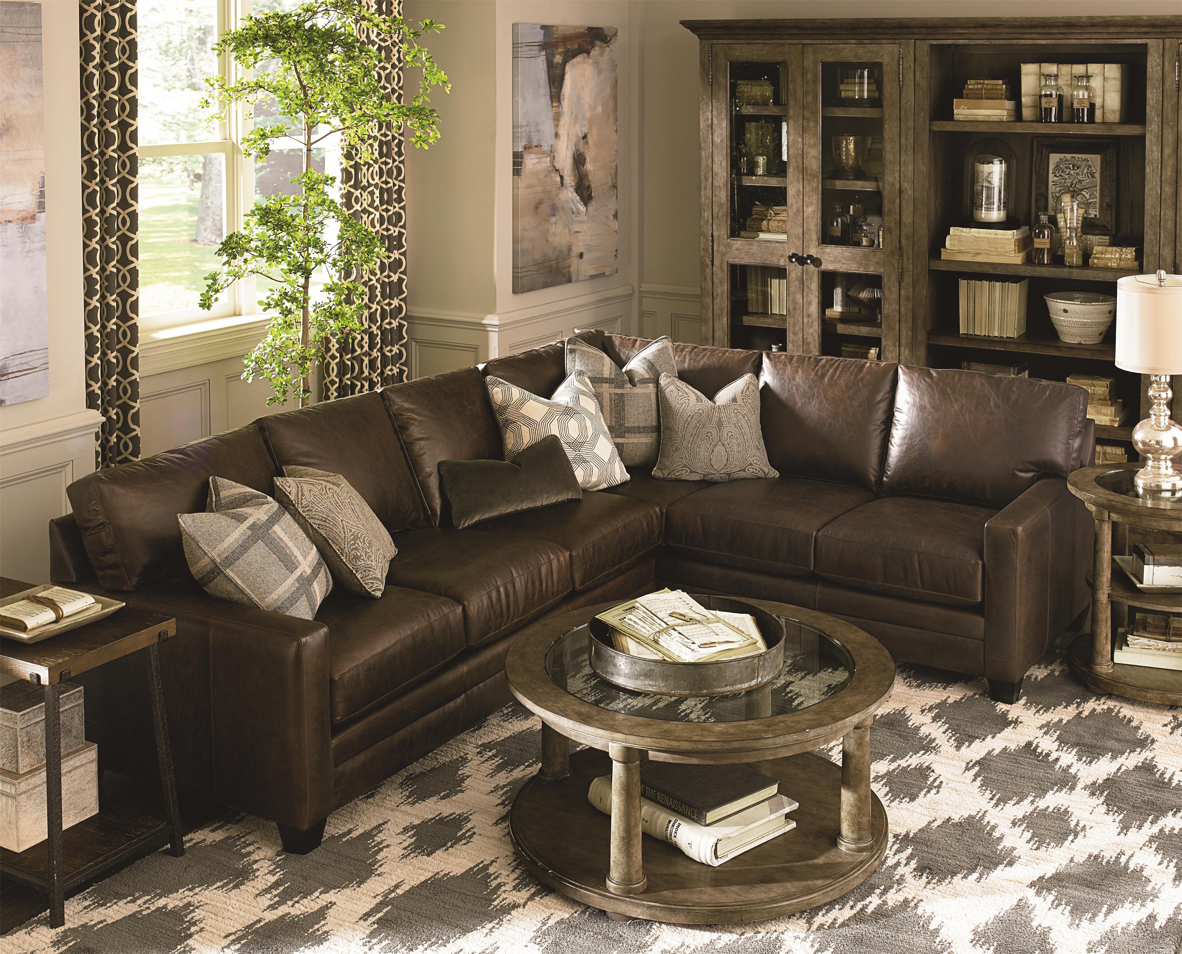 Bassett Ladson Sectional Sofa   Wayside Furniture ...