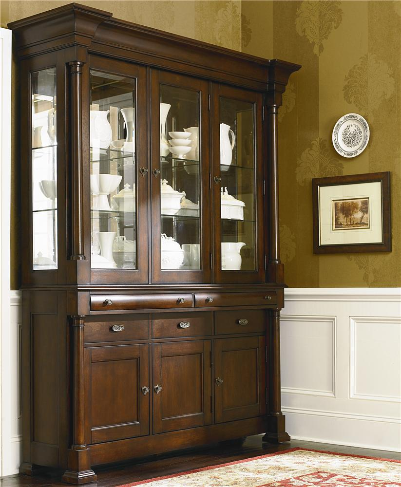 bassett louis philippe china cabinet with wood top ahfa china rh catalog findyourfurniture com bassett furniture industries inc antique china cabinet bassett furniture mission style china cabinet