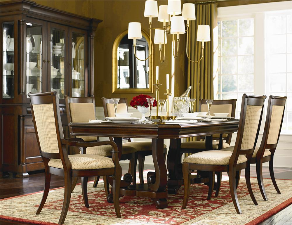 Bassett Louis Philippe Trestle Dining Table Chair Set
