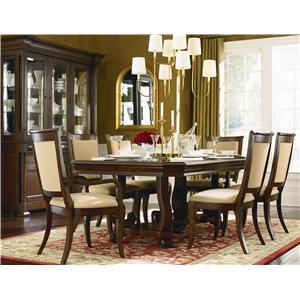 Bassett Louis Philippe 7 Piece Dining Room Set