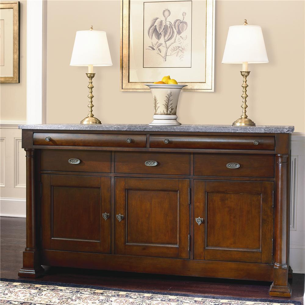 Bassett Louis Philippe China Buffet With Marble Top