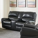 Bassett Manchester Motion Loveseat with Power and Console - Item Number: 3725-PC42J