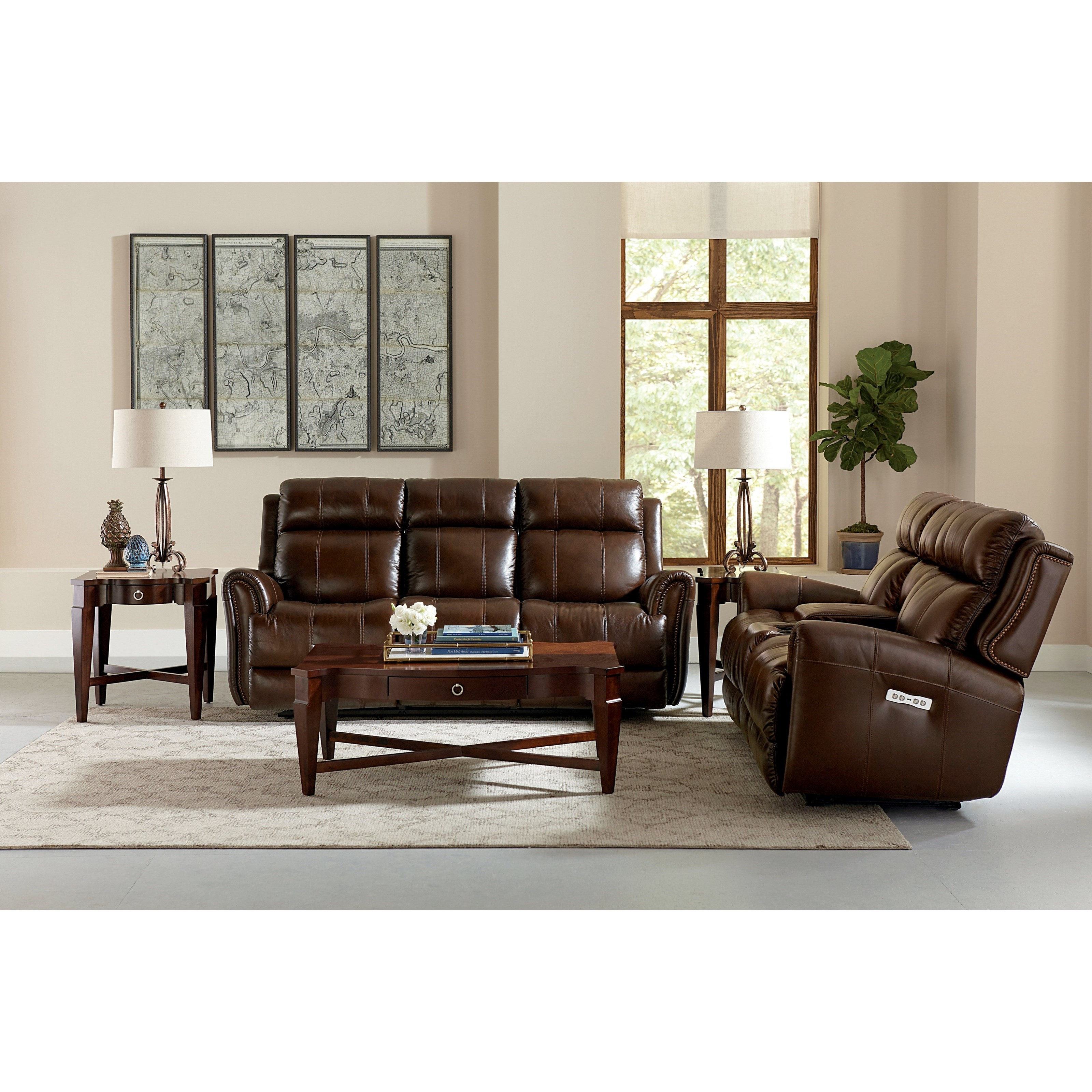 Marquee Reclining Living Room Group by Bassett at Esprit Decor Home Furnishings