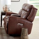 Bassett Marquee Pwr Recl. Loveseat w/ Extended Footrest - Item Number: 3707-P42CD-Umber