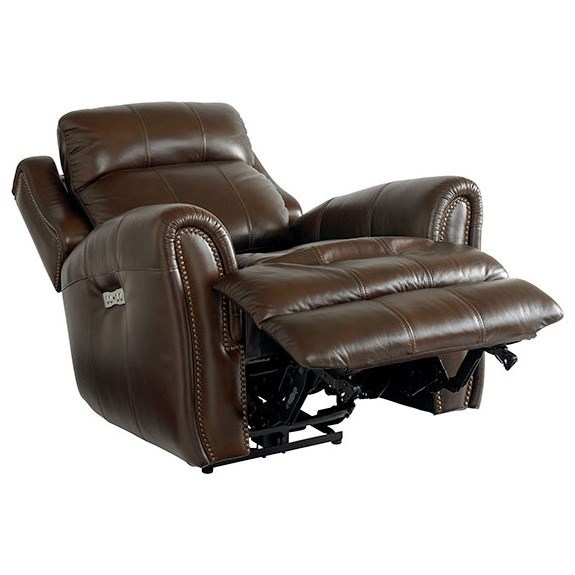 Bassett Marquee Leather Match Power Recliner With Extended
