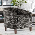 Bassett Maxwell Accent Chair - Item Number: 1110-02-Gray+White Pattern