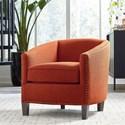 Bassett Maxwell Accent Chair - Item Number: 1110-02-Orange Fabric