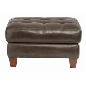 Bassett Mercer Leather Ottoman