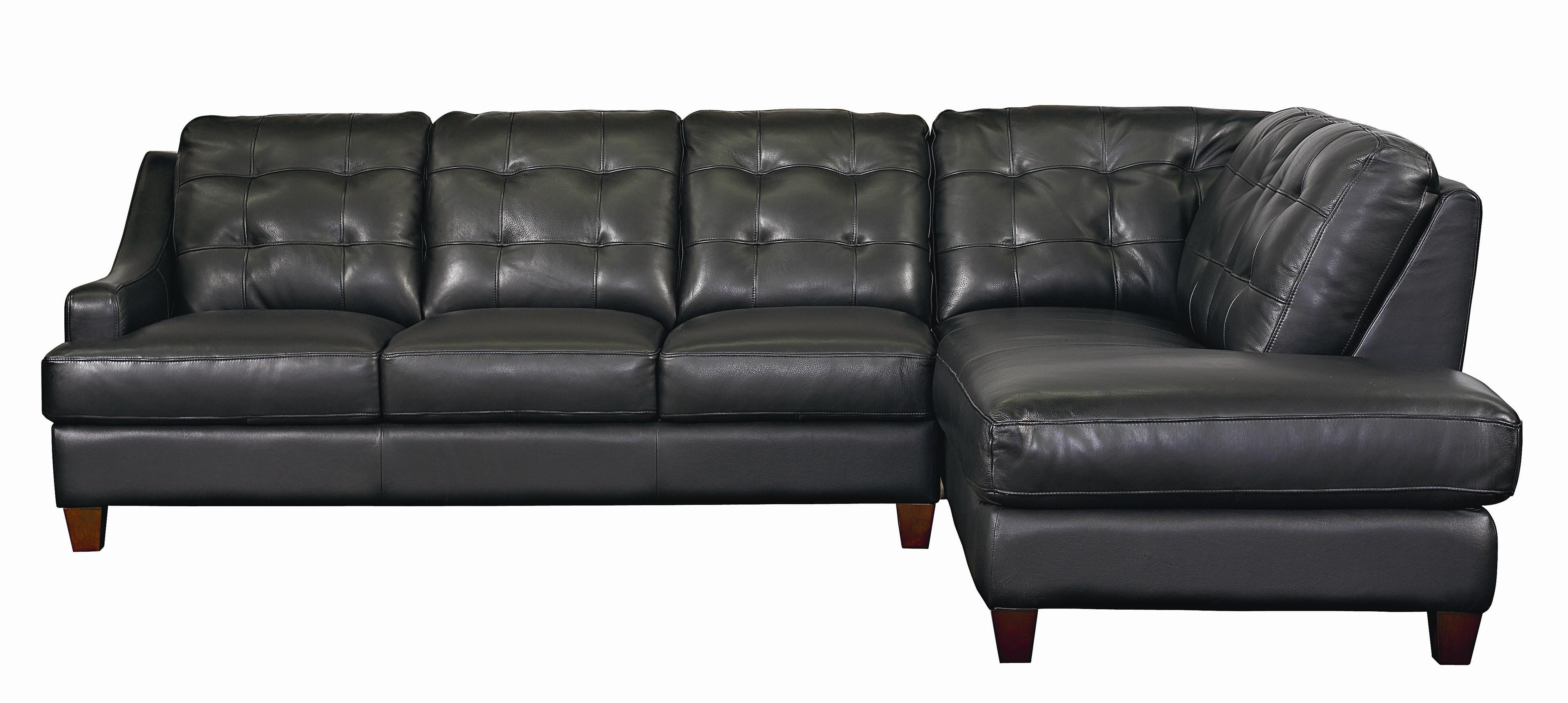Mercer Right Chaise Leather Sectional By Bassett