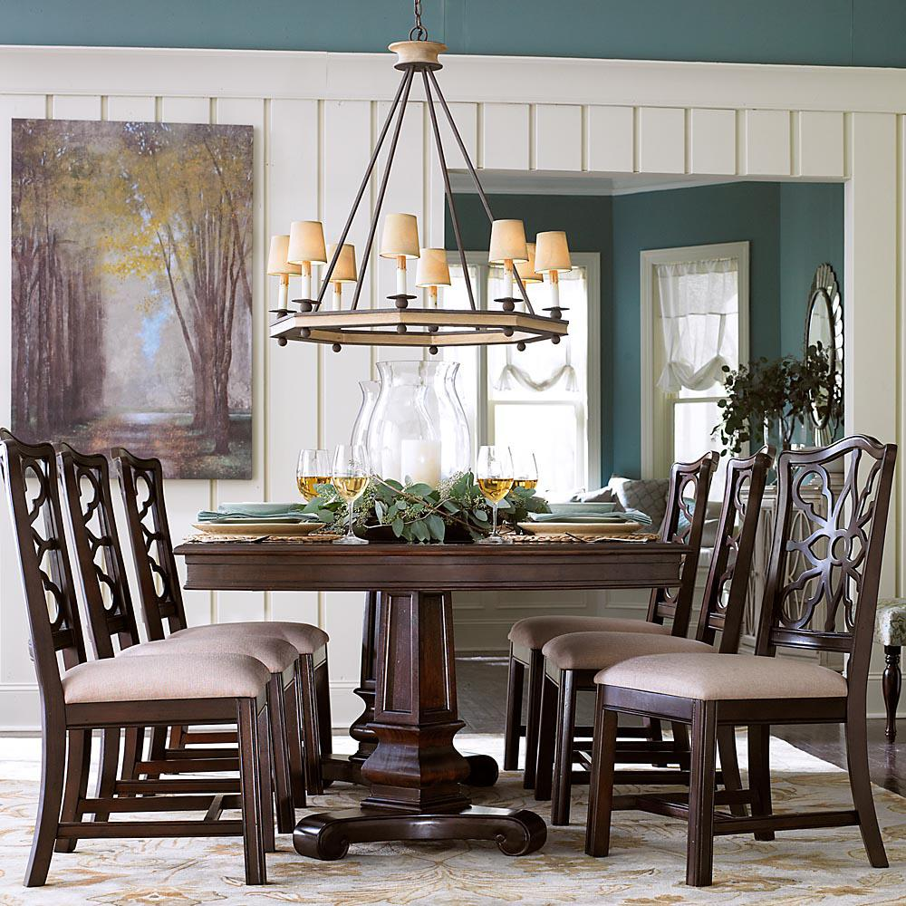 Bon Bassett Moultrie Park 7 Piece Double Pedestal Table And Side Chair Set    AHFA   Dining 7 (or More) Piece Set Dealer Locator
