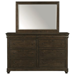 Bassett Provence Dresser and Mirror Set